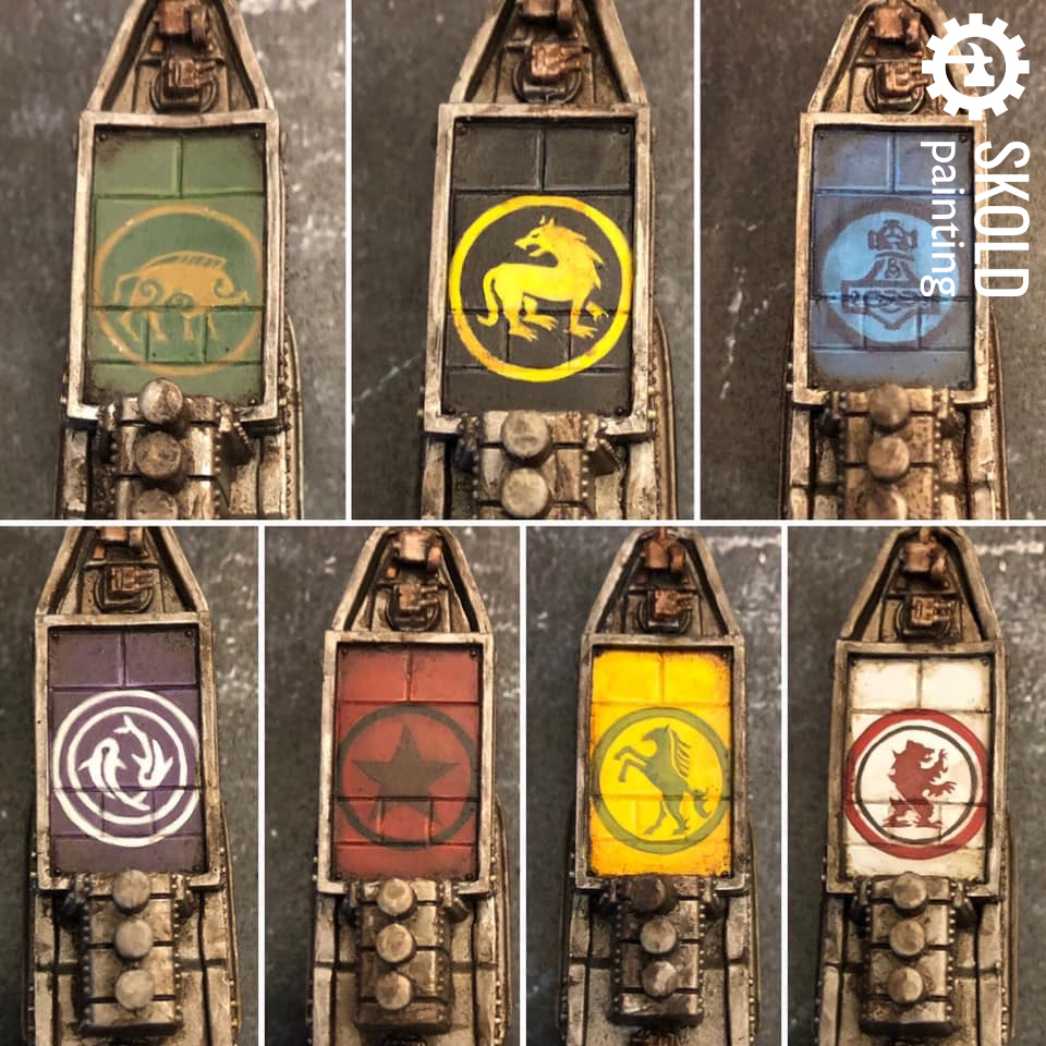 Freehand faction symbols