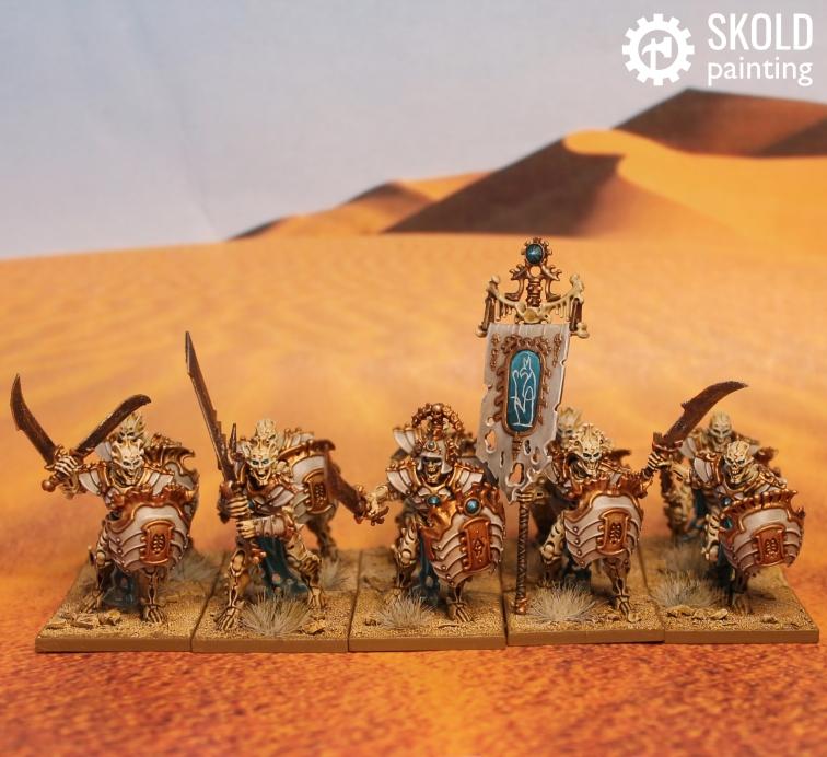 Mortek Guard with swords